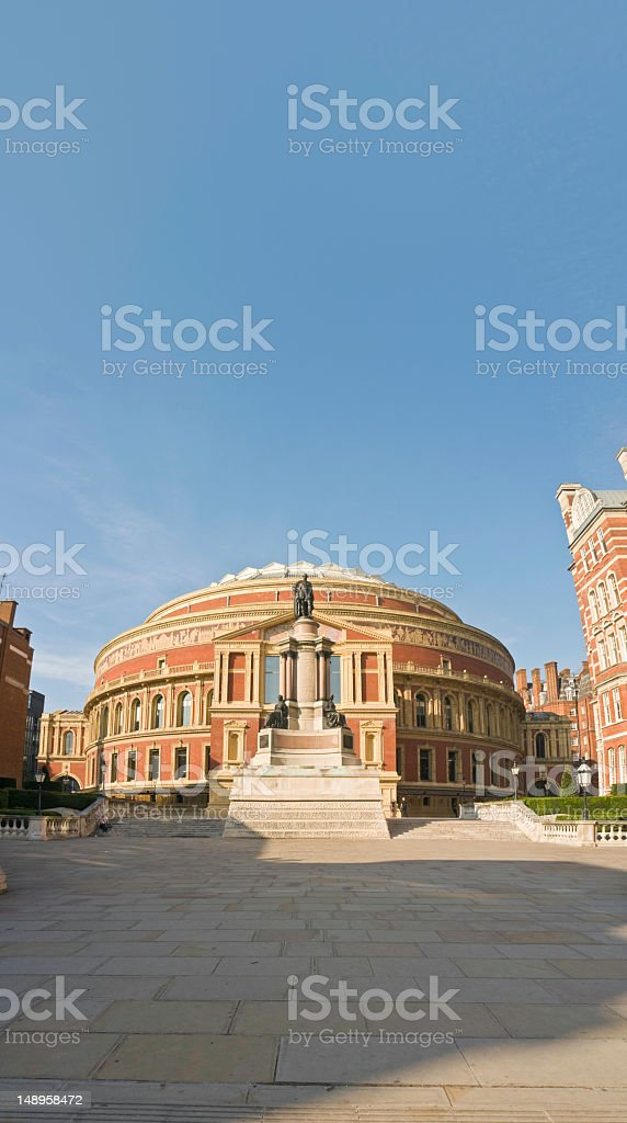 Royal Albert Hall banner blue sky stock photo