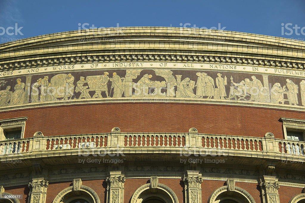 Royal Albert Hall Frieze stock photo