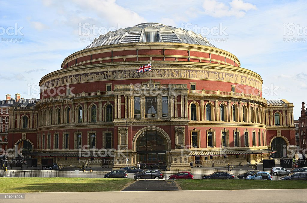 Royal Albert Hall in London, England in the late afternoon stock photo