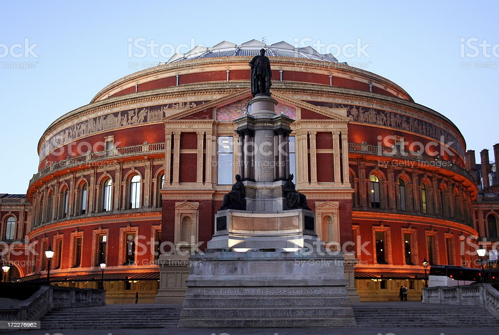 Royal Albert Hall in the early evening stock photo