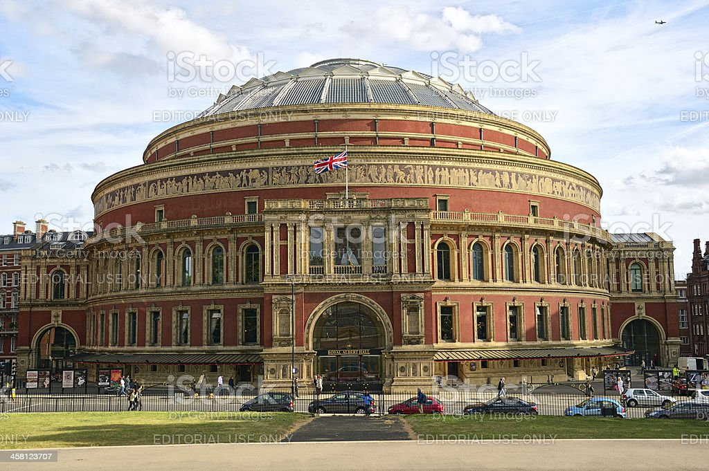Royal Albert Hall, London, England, UK, in late afternoon daylight stock photo