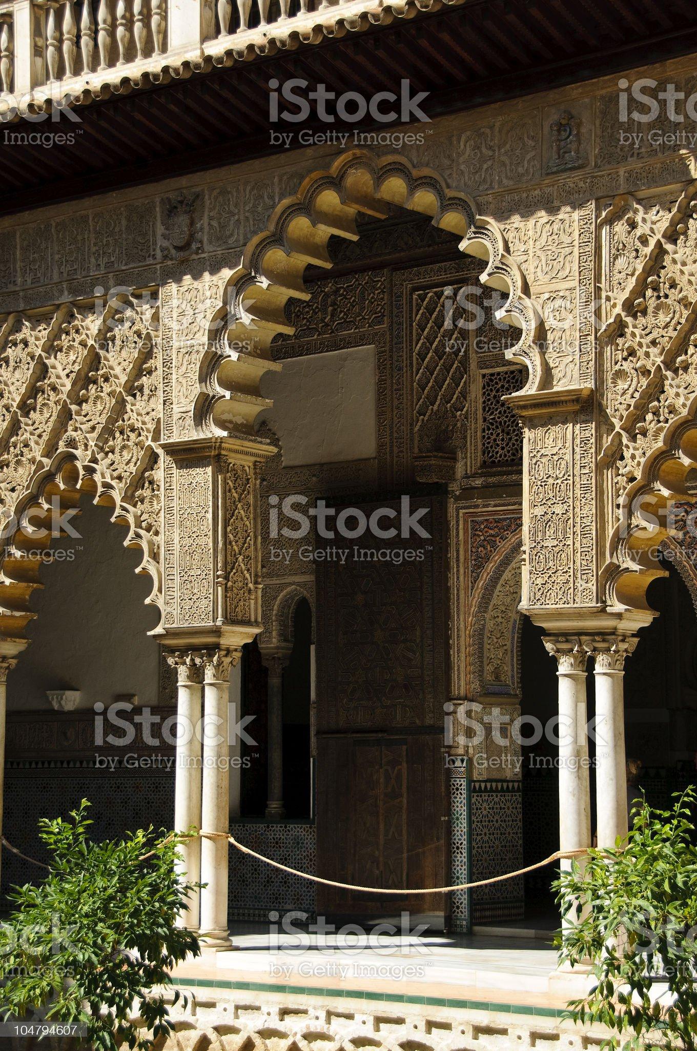 Royal Alcazar in Seville, Spain royalty-free stock photo