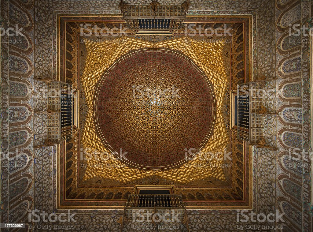 Royal Alcazars of Seville interior, Spain stock photo