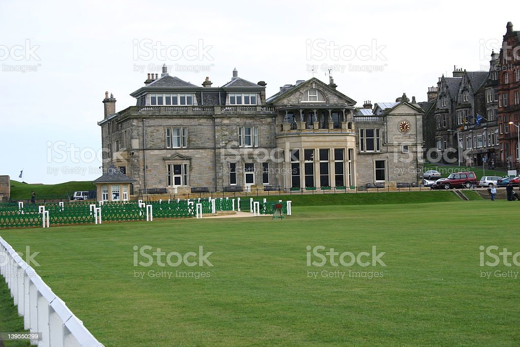 Royal and Ancient Golf Club, St Andrews stock photo