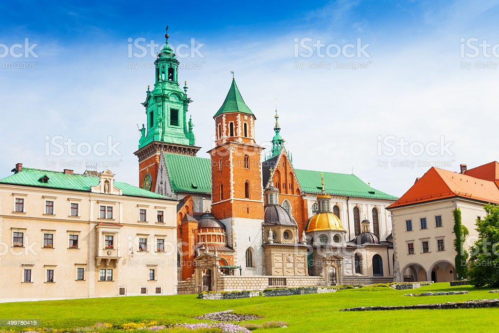 Royal Archcathedral Basilica in Poland stock photo