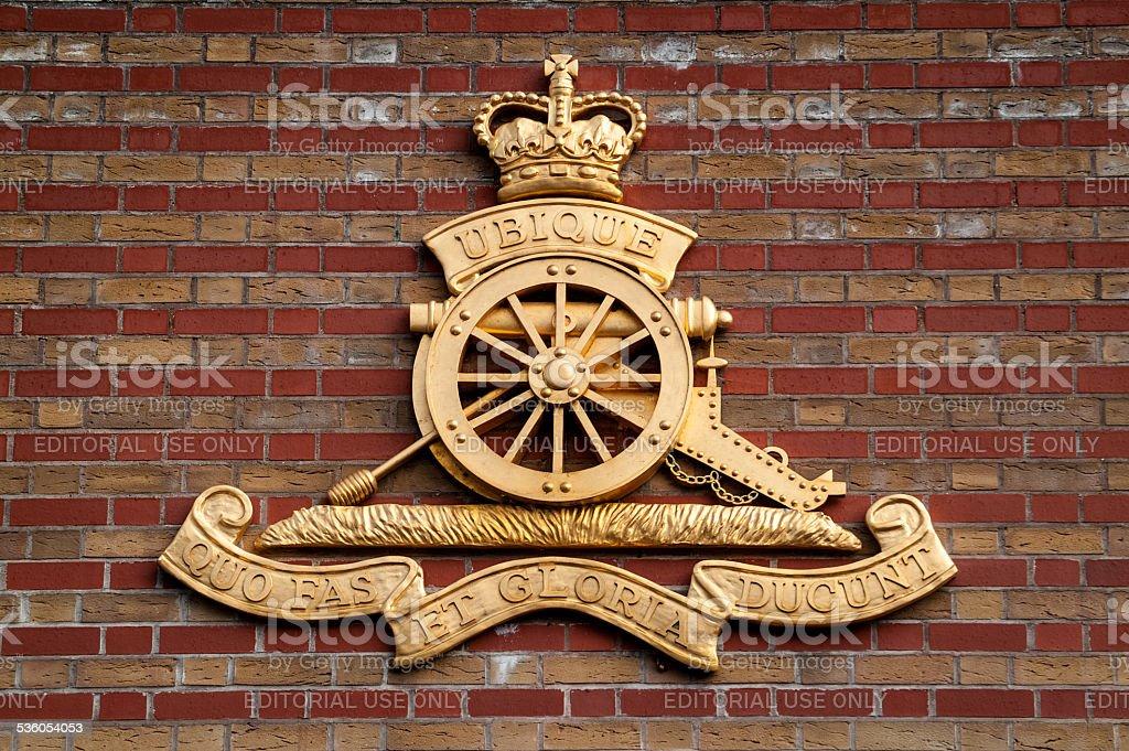Royal Artillery Logo stock photo
