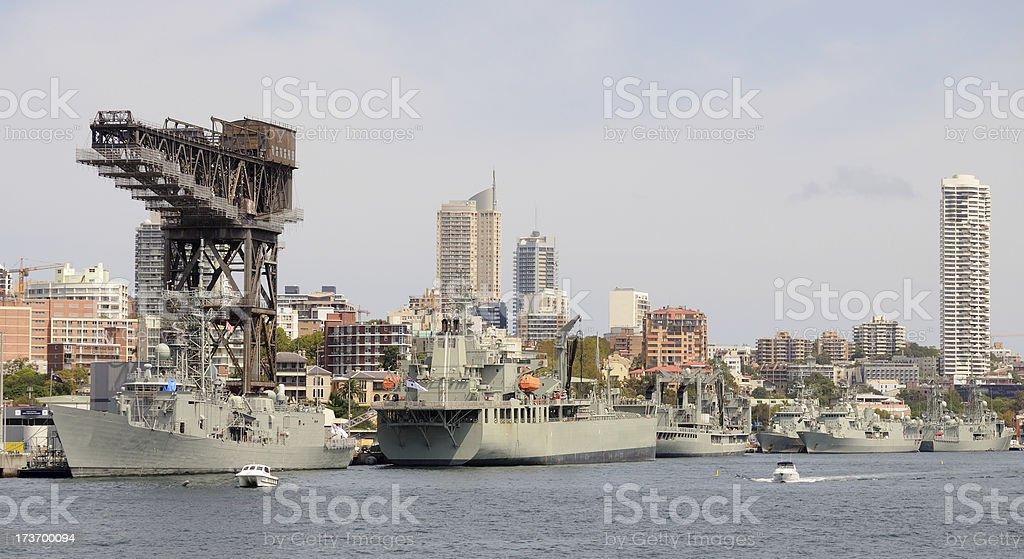 Royal Australian Navy, Sydney stock photo