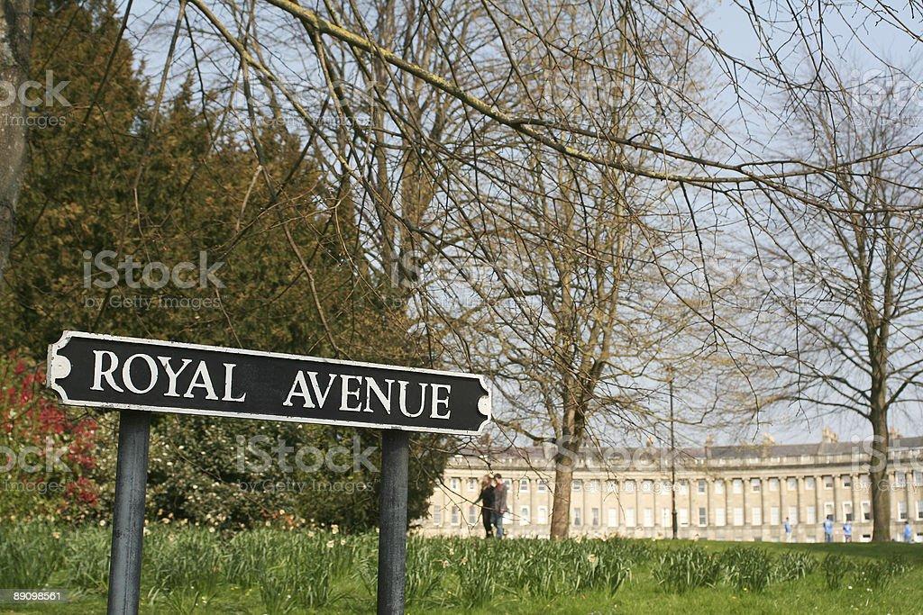 Royal Avenue royalty-free stock photo