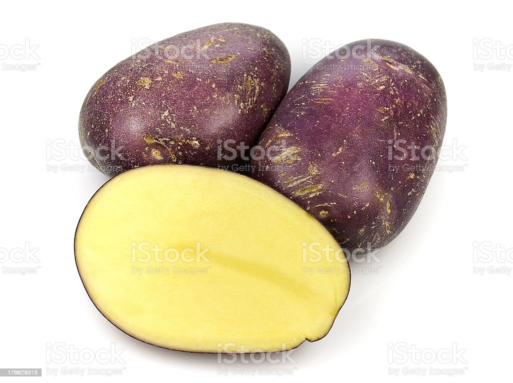 Royal Blue Potatoes stock photo