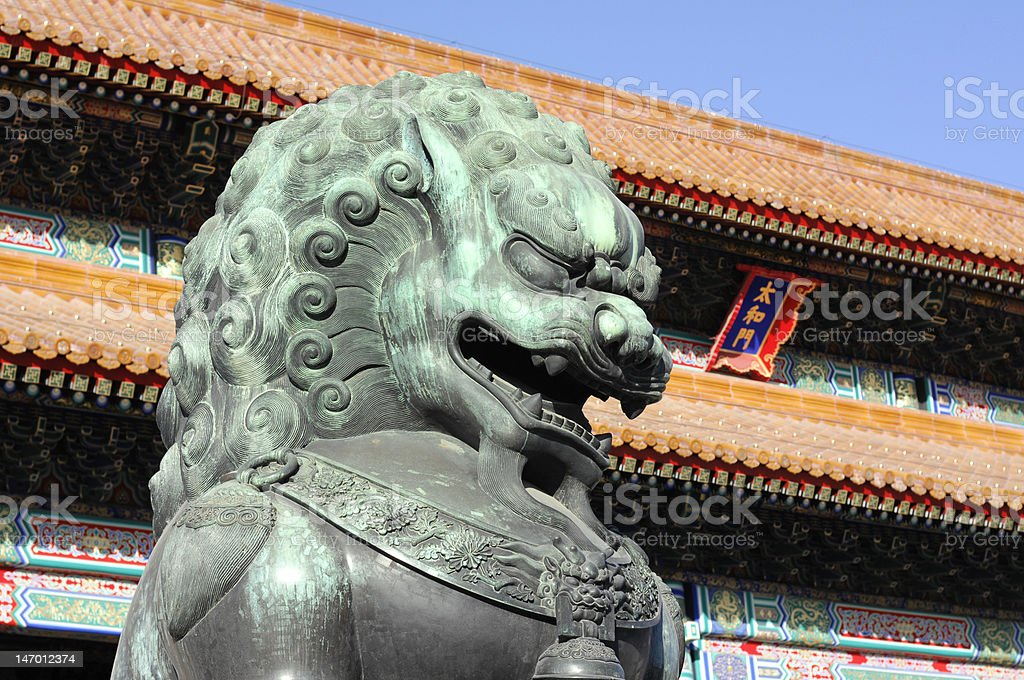 Royal Bronze Lion royalty-free stock photo