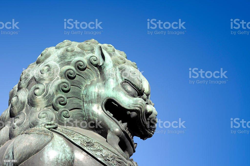 Royal Bronze Lion royalty-free stock photo