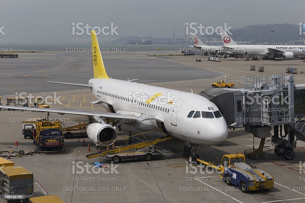 Royal Brunei Airlines Airbus A320 royalty-free stock photo
