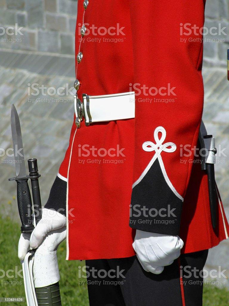 Royal Canadian Guard stock photo