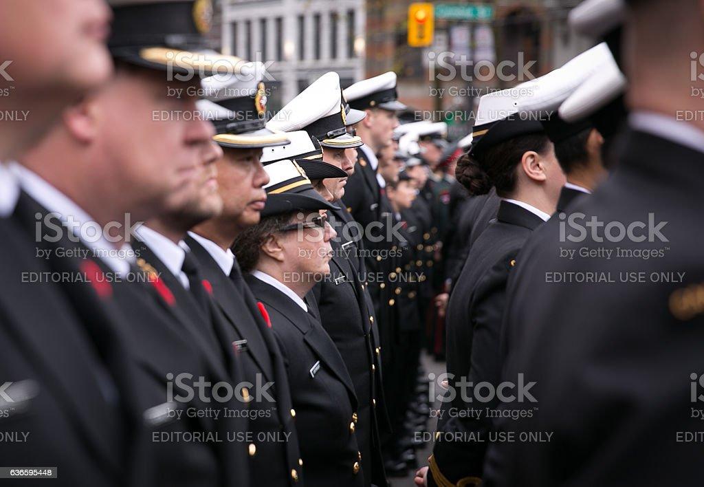 Royal Canadian Navy Sailors stock photo
