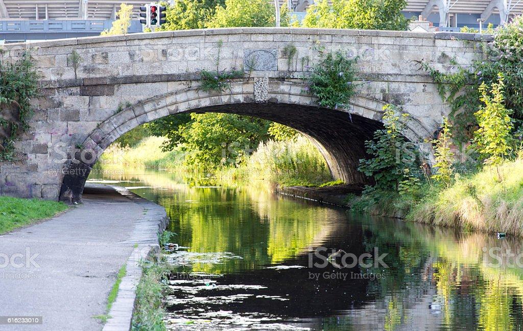Royal Canal in Dublin stock photo