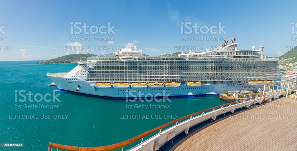Royal Caribbean cruise ship stock photo