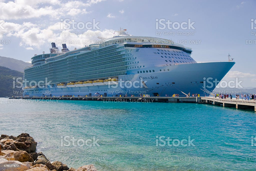 Royal Caribbean, Oasis of the Seas Cruise Ship. stock photo