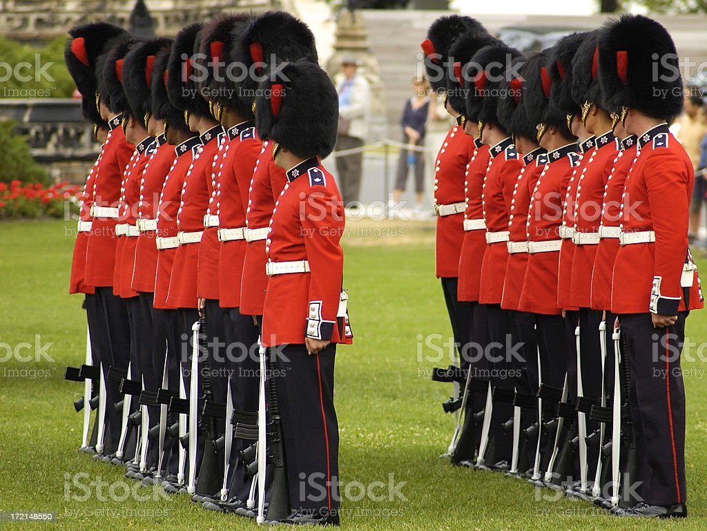 Royal Ceremonial guards royalty-free stock photo