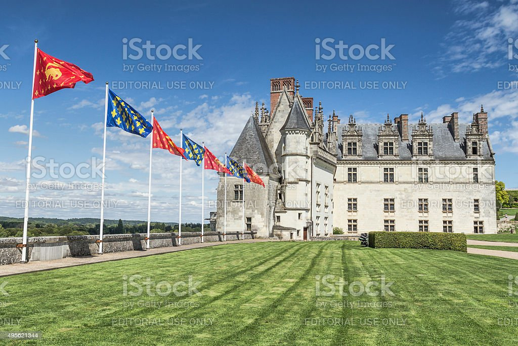 Royal Chateau de Amboise - France stock photo