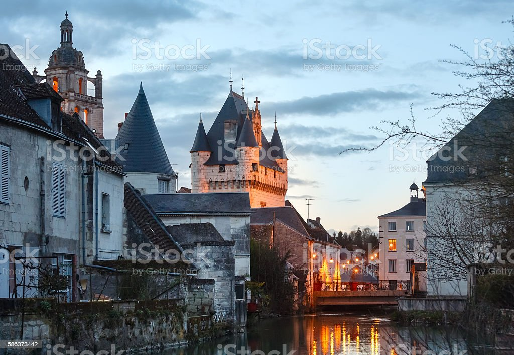 Royal City of Loches (France). stock photo