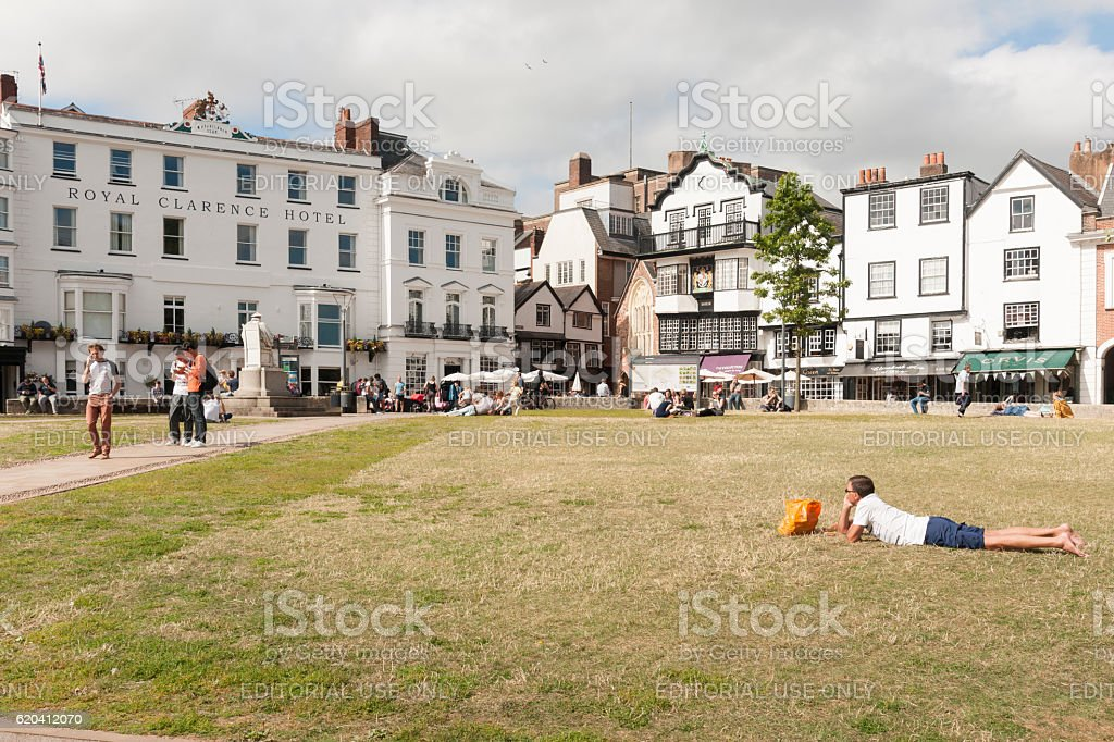Royal Clarence hotel before the fire of 29th Oct 2016 stock photo
