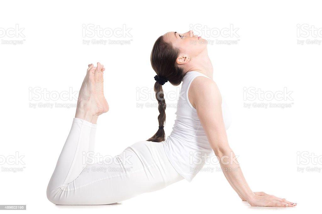 Royal Cobra yoga Pose stock photo