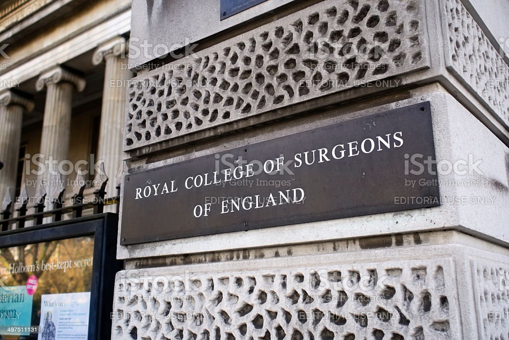 Royal College of Surgeons of England royalty-free stock photo