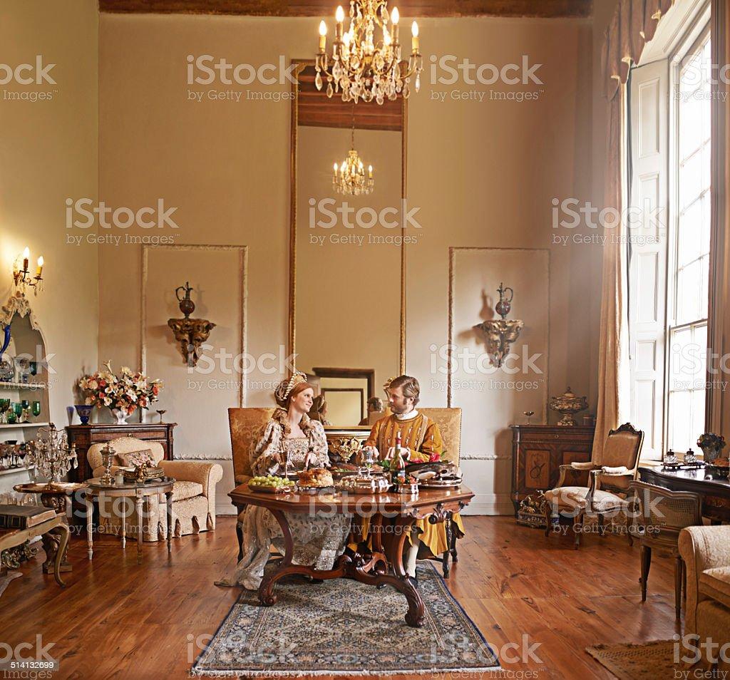 Royal comforts stock photo