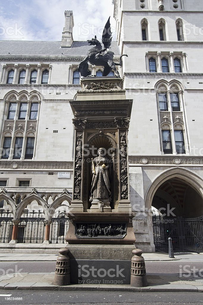 Royal Court of Justice London stock photo