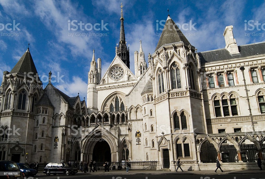 Royal Court of Justice, London royalty-free stock photo