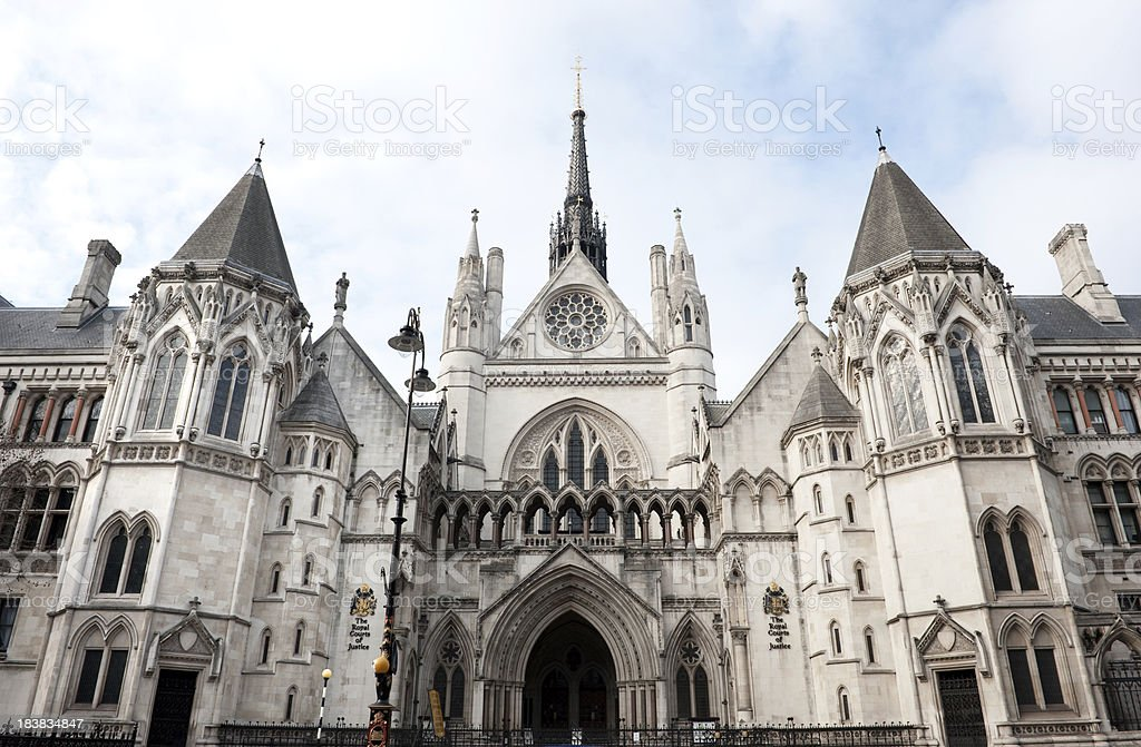 Royal Court of Justice stock photo