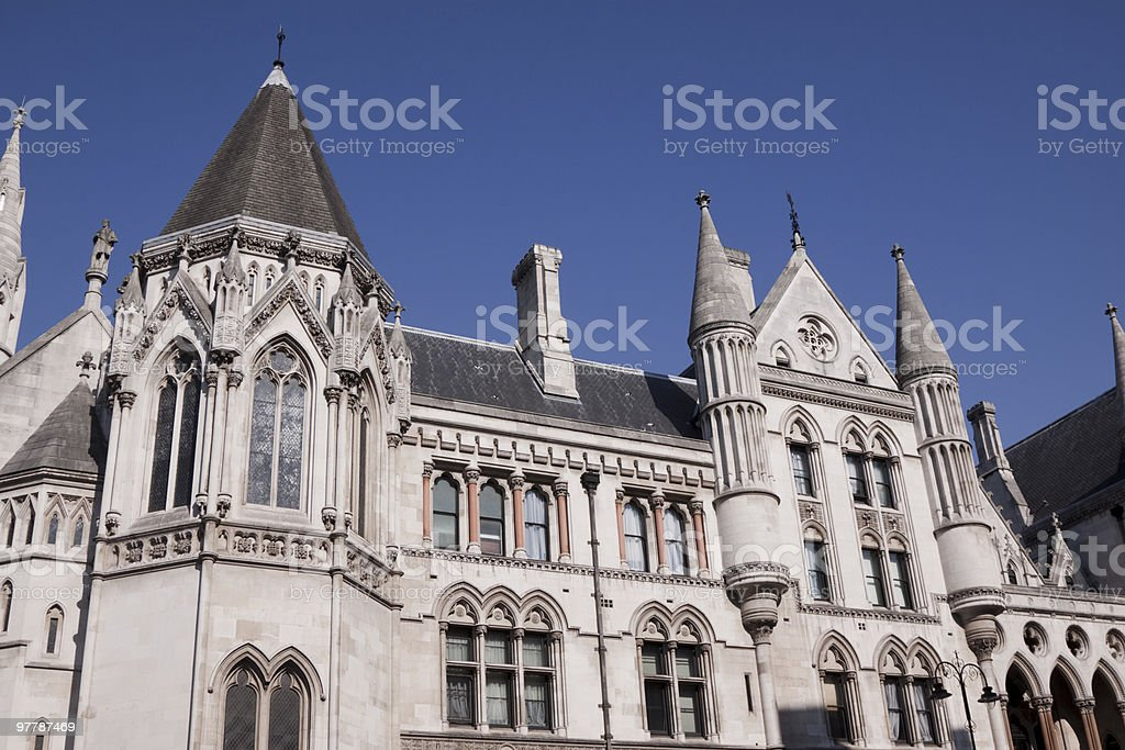 Royal Courts of Justice in London, England stock photo