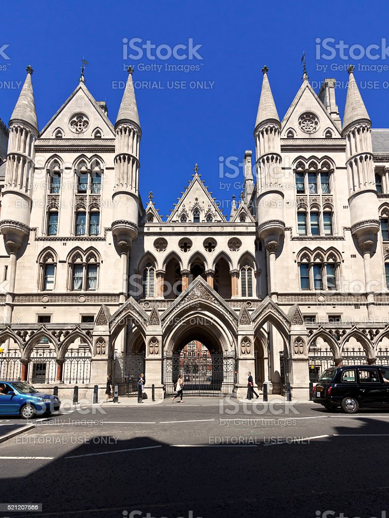 Royal Courts of Justice, London, England, United Kingdom. stock photo