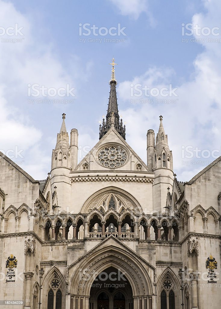 Royal courts of Justice, London royalty-free stock photo