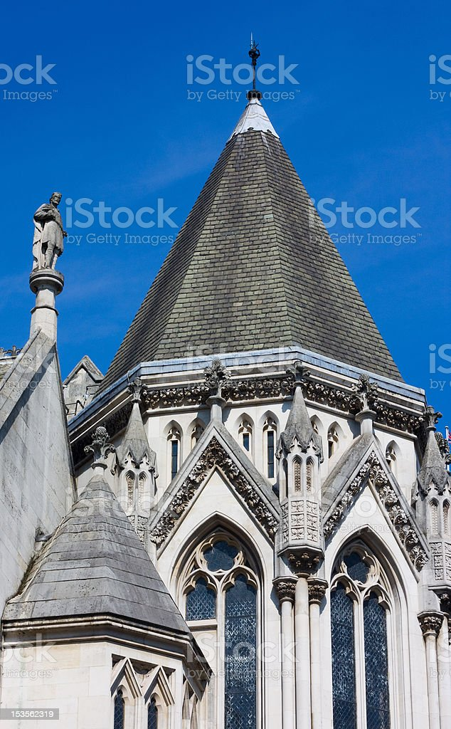 royal courts of justice. royalty-free stock photo