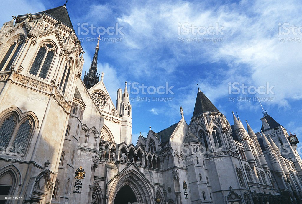 Royal Courts of Justice royalty-free stock photo