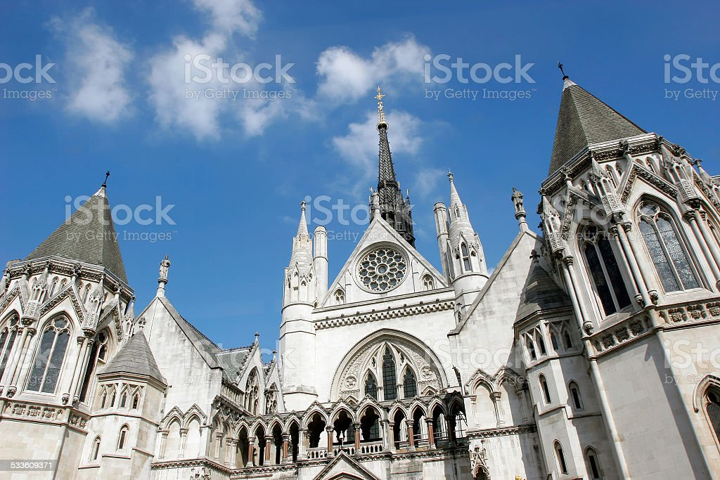 Royal Courts of Justice. stock photo