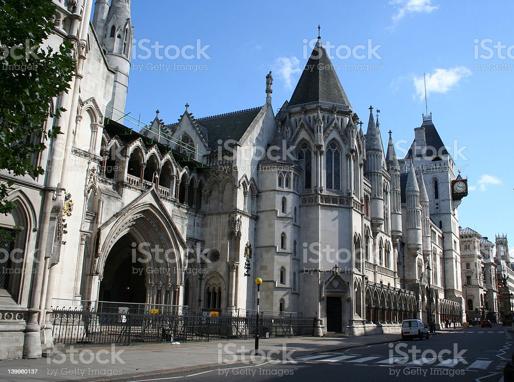 Royal courts of Justice, Strand, London stock photo