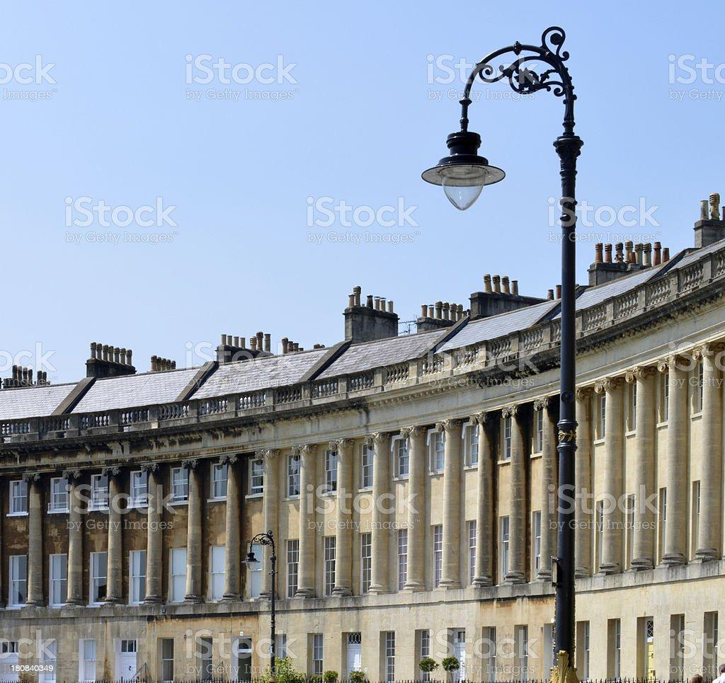 Royal crescent. Bath. royalty-free stock photo