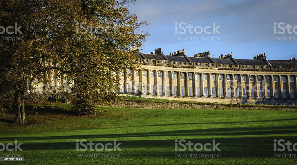 Royal Cresent Bath Somerset England stock photo