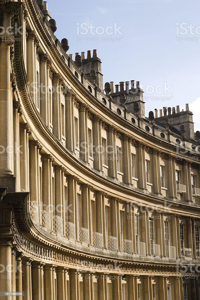 Royal cresent in Bath stock photo