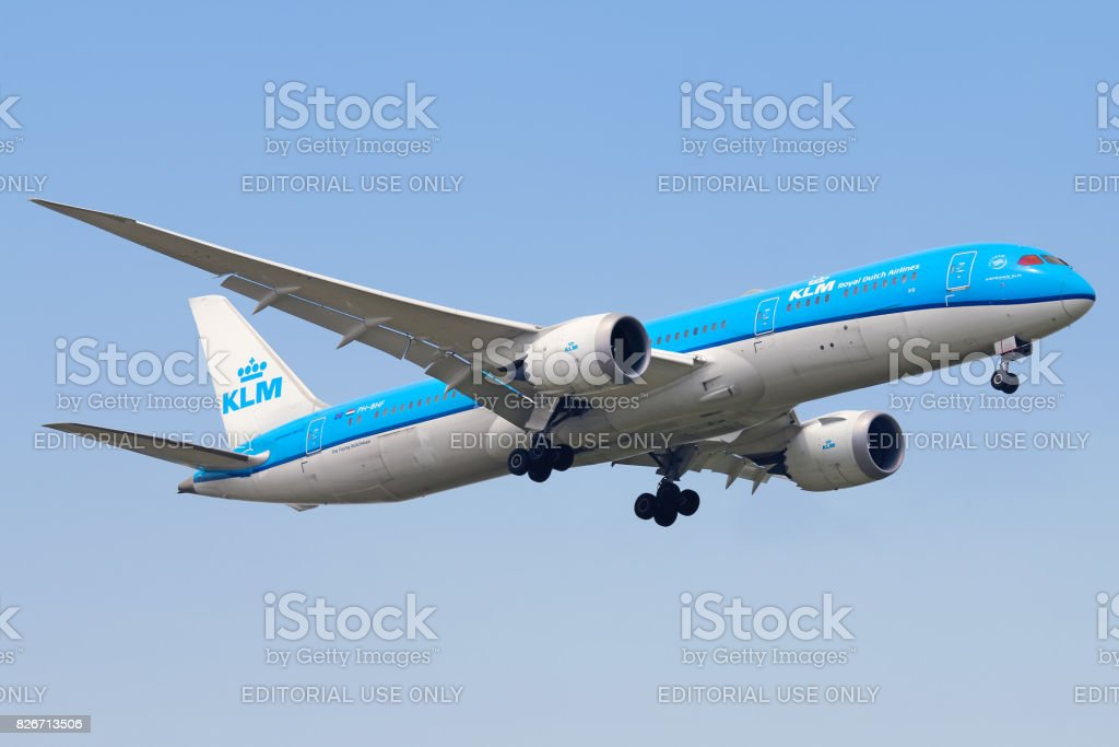 KLM Royal Dutch Airlines aircraft stock photo