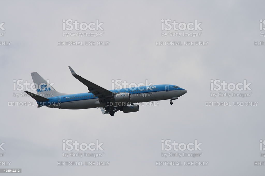 KLM Royal Dutch Airlines Boeing 737 stock photo
