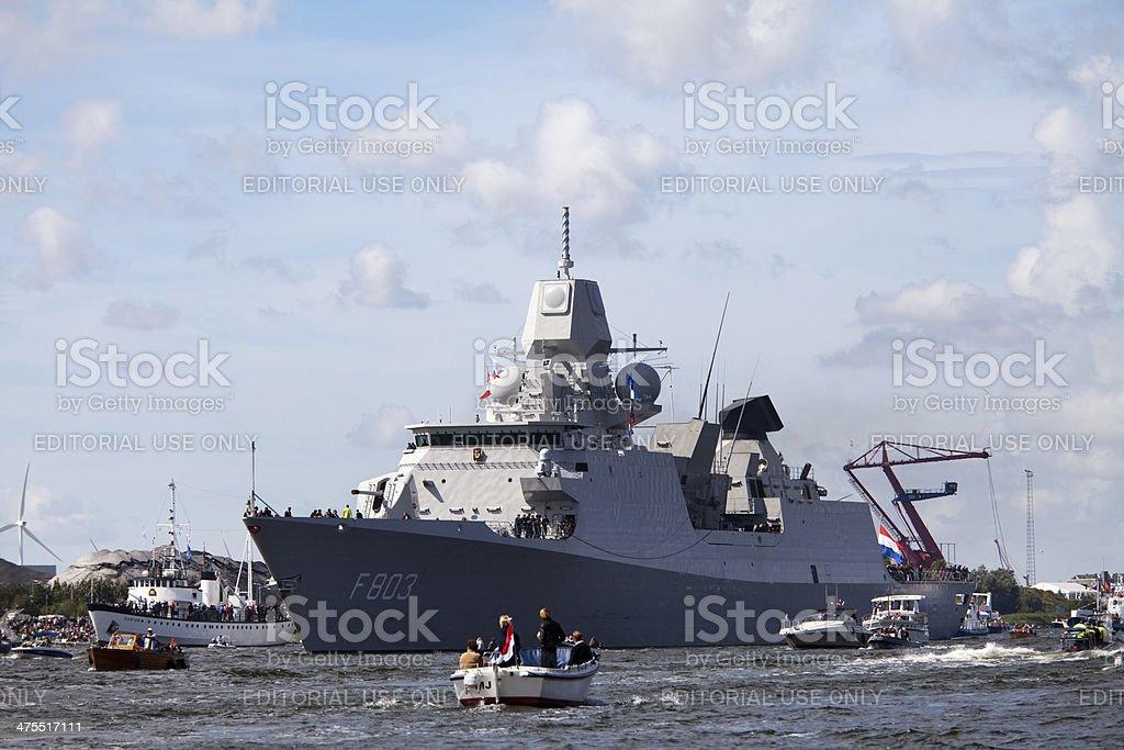 Royal Dutch Navy Frigat HNLMS Tromp (F803) , SAIL 2010 stock photo