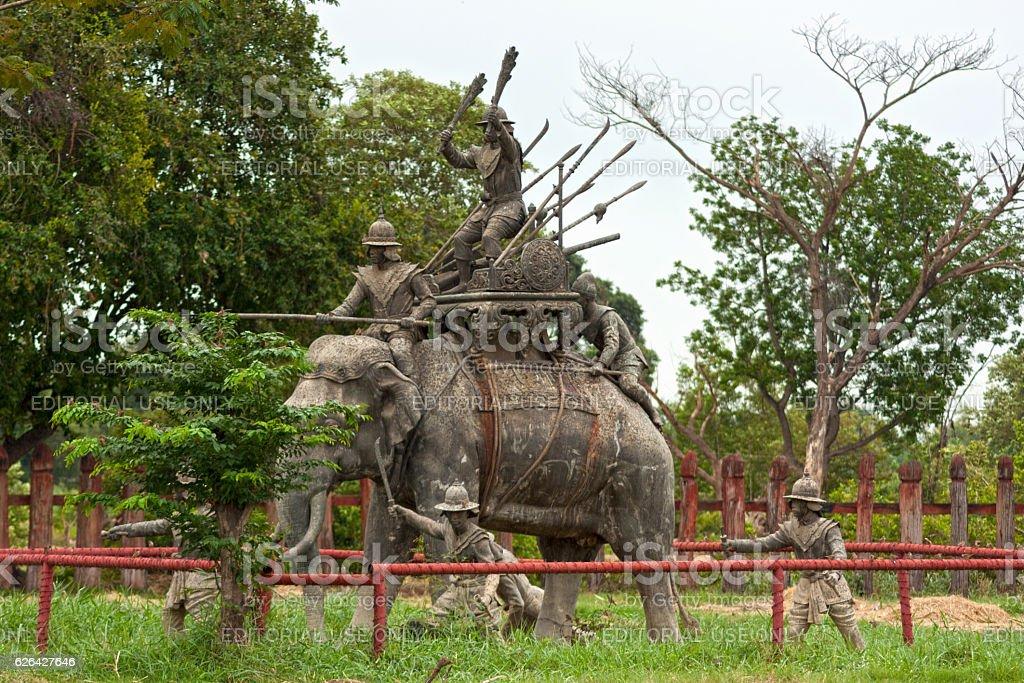 Royal Elephant Kraal of Ayutthaya stock photo