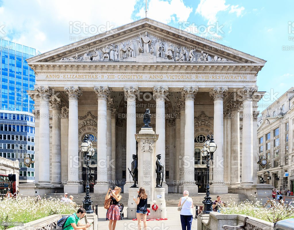 Royal Exchange in London, UK stock photo
