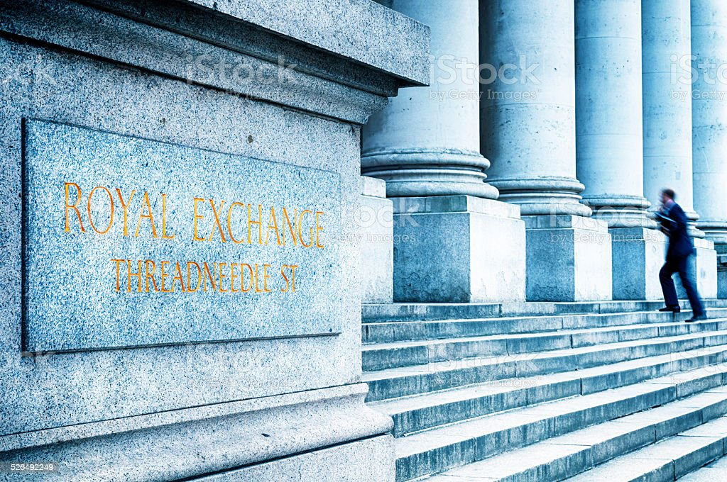 Royal Exchange, London - England stock photo