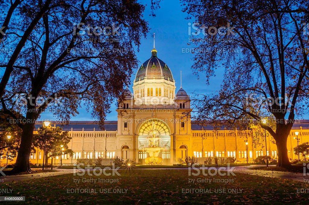 Royal Exhibition Building, Melbourne stock photo
