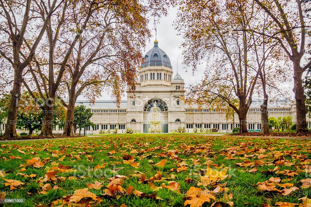 Royal Exhibition Building stock photo