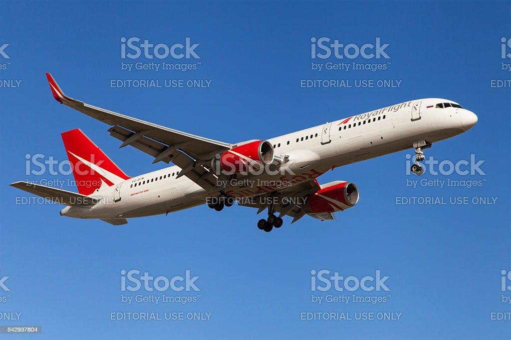 Royal Flight Boeing 757 stock photo